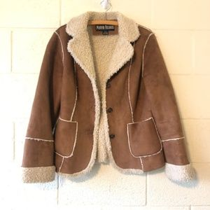 Marvin Richards Sherpa Vegan Suede Jacket Small